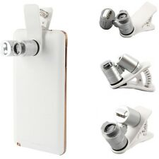 60X Zoom Mobile Phone Camera Optical LED UV Clip Magnifier Microscope Micro Lens