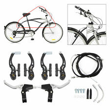 2pcs Bike Brake Levers Front Rear Brakes Cables Set For BMX Mountain Bicycle