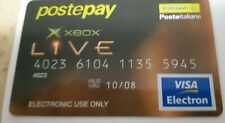 CARTA POSTEPAY XBOX LIVE MICROSOFT VINTAGE
