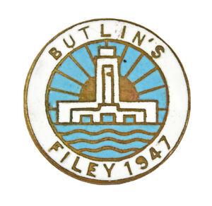 Butlins Holiday Camp Filey 1947 Enamel Badge