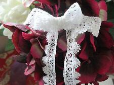 45m Exclusive Cluny Lace Co FC100 White Cotton Nottingham Valenciennes Lace
