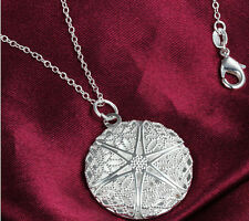 Chic Silver Plated Hollow Pattern Locket Chain Charms Pendant Frame Necklace