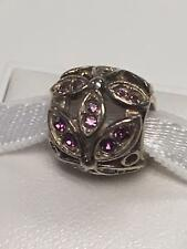 Accent Amethyst Swarovski Crystal Bead Chamilia Sterling Silver 925 Floral Color