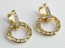 EasyConnect Earrings with Small Gold Swarovski Crystal Circles by Gulten Dye