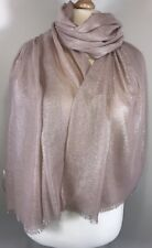 NEW Pink Metallic Scarf Pashmina Wrap  Sparkly Shimmery Soft Oversized Weddings