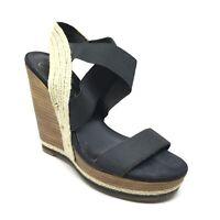Women's Jessica Simpson Gema Slingback Wedge Sandals Shoes Size 8.5 Black C14