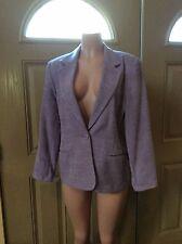 VTG Joan Leslie Pale purple One Button Lined blazer SZ 16P