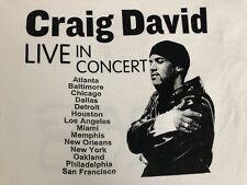 VTG.Original Craig David Live In Concert R&B HIP HOP USA Tour Adult T-shirt 2XL