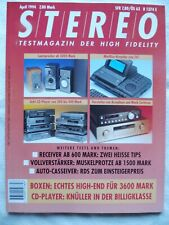 STEREO 4/94,ALPINE 7510 R,BLAUPUNKT MONTREUX RCR 44,CLARION CRX 601R,WKX 1904RDS