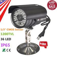 1200TVL HD Color Outdoor CCTV Surveillance Security Camera 36IR Night Video TBB