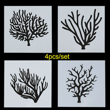 4pcs/set Stamp Scrapbooking Embossing Template Trees Layering Stencils
