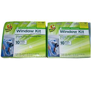 Duck Brand Indoor 10-window Shrink Film Insulator Kit 62-inch X 420-inch - Lot 2