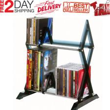 Cd Dvd Storage Rack Organizer Shelf Tower Cabinet Stand Multimedia Games Compact