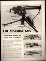1942 Original Print Article The Army Browning Machine Gun Operation WWII