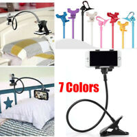 Flexible Long Arms Lazy Bed Stand Clip Holder For Mobile Phone Tablet Desktop#