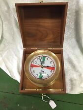 Replica Ship'S Brass Clock – Marine Radio Room Clock Boat / Marine / Nautical