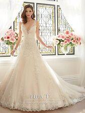 Latest Design Beaded Lace Wedding Dresses V Neck Bridal Gown A Line Bridal Dress