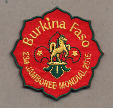 23rd world scout jamboree BURKINO FASO Contingent bBadge 2015