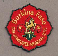 23rd world scout jamboree BURKINO FASO Contingent bBadge 2015