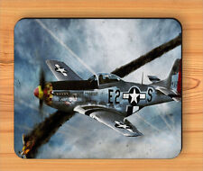 WAR PLANE NORTH AMERICAN P-51 MUSTANG MOUSE PAD -spl3Z