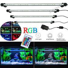 Waterproof Aquarium Fish Tank Light RGB LED Submersible Air Bubble Curtain Lamp