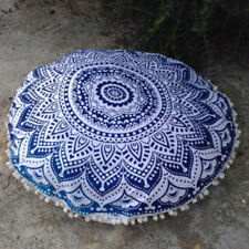 US Large Mandala Print Floor Throw Pillow Case Round Bohemian Cushion Cover Pouf