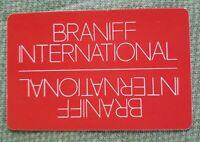 VINTAGE AIRPLANE BRANIFF INTERNATIONAL  DECK  SOUVENIR PLAYING CARDS