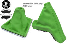 GREEN TOP GRAIN REAL LEATHER GAITER SET FOR VAUXHALL OPEL ASTRA MK5 H 2004-2009