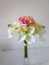 Artificial Light Pink, Cream & White Flower Bundle - Wedding Flowers - 26cm
