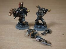 2 CLASSIC METAL WARHAMMER CHAOS SPACE MARINE HAVOCS PAINTED (2763)