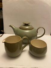 Denby Teapot Milk Jug And Sugar Bowl