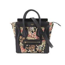 CELINE Luggage Nano Shopper Hand Shoulder Bag Leather Jacquard 189242 90131788
