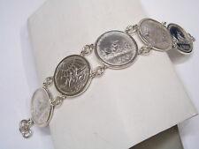 Bracciale in Argento 925 con monete da 500 lire in Argento - Dante e Caravelle
