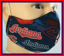 Handmade Adult/Teen Face Mask & FREE Filter CLEVELAND INDIANS Face Covering #17