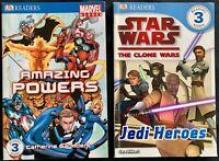 DK Readers x 2 Marvel Heroes AMAZING POWERS / Star Wars JEDI HEROES  Level 3