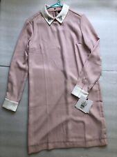 Victoria Beckham for Target Blush Pink Bunny Rabbit Collared Dress Size Medium