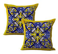 Us Seller-2pcs decorative accessories for Mexican Spanish talavera cushion cover