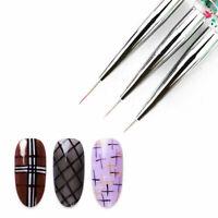 3x/set Nail Art Pen Dotting Drawing Painting UV Gel Liner Polish Brush Manicure
