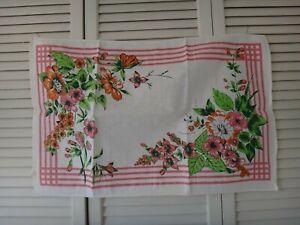 "Vintage 1980's LINEN Kitchen Dish Towel 27"" x 18"" NEW"