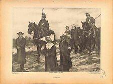Internés Civils Prisonniers Uhlans Deutsches Heer de Paul Dupuy Peintre 1915 WWI