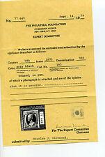 Scott #165 Hamilton Unused Stamp with Pf Cert (Stock #165-c1)