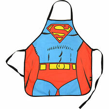 NEW SUPERMAN SUIT APRON IN A TUBE 100% COTTON RETRO KITCHEN MAN OF STEEL GIFT DC