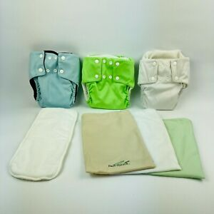 3 Small Modern Cloth Nappies Pea Pods Brand