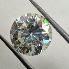 Ct 9.13 Mm Si1 Use 4 Ring Light Yellow Loose Moissanite Round Brilliant Cut 2.64