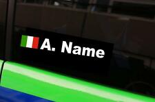 Namen Aufkleber Italien Rally Fahrer Sticker drift jdm Racing cup Italy IT