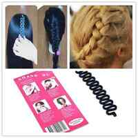 women French Hair Braiding Tool Roller Magic Hair Twist Styling Bun Maker black