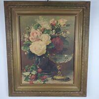 Jean Baptiste Robie Antique Framed Art Cupid Goblet Vintage Frame 23x27