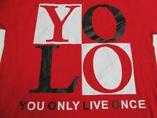 YOLO Only Live Once Mens T Shirt L