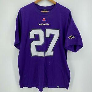 NFL T-Shirt Men's Size XL Purple Baltimore Ravens #27 Ray Rice