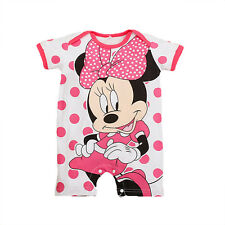 Recién Nacido Bebé De Niña Traje una pieza BODY CARTOON Minnie Mickey MONO